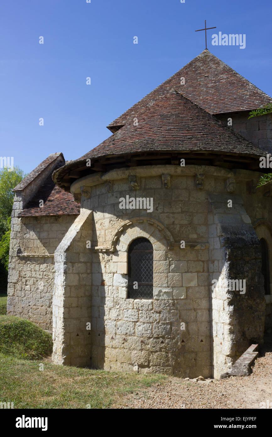 Exterior: Chapel of Saint Gilles, Montoire sur le Loir, France Stock Photo