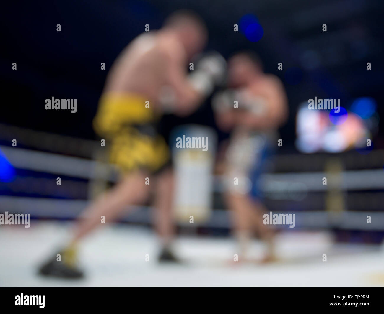Blurred boxing fight. - Stock Image