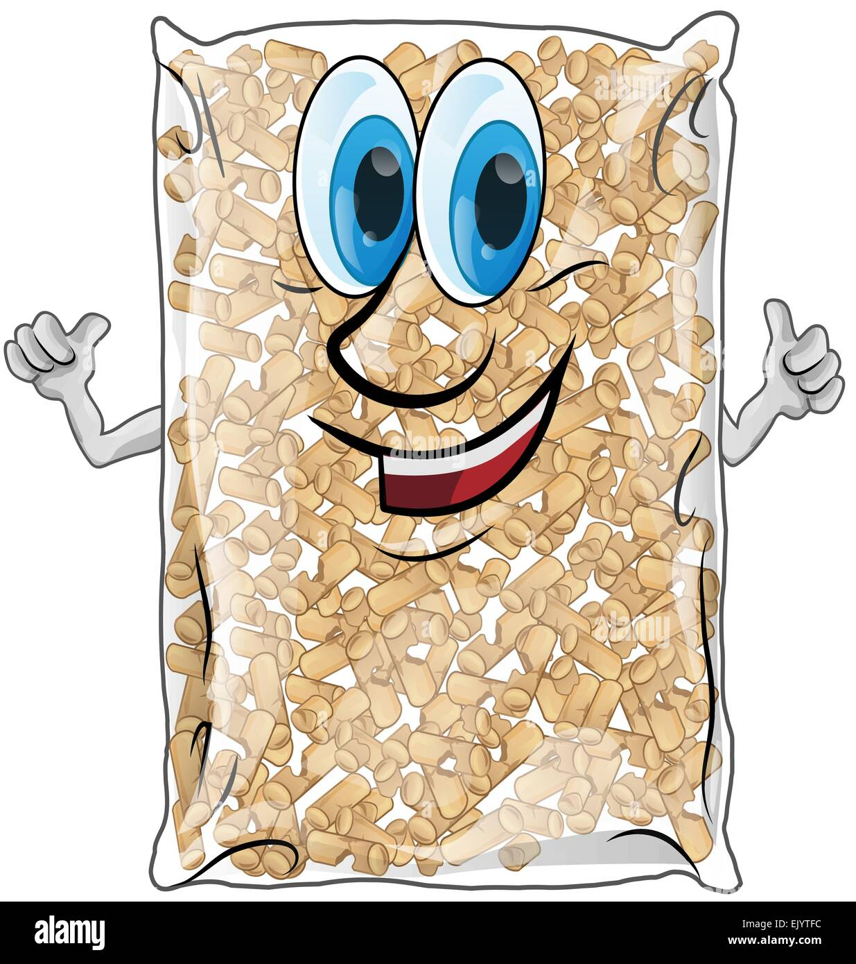 pellet bag isolated on white background - Stock Vector