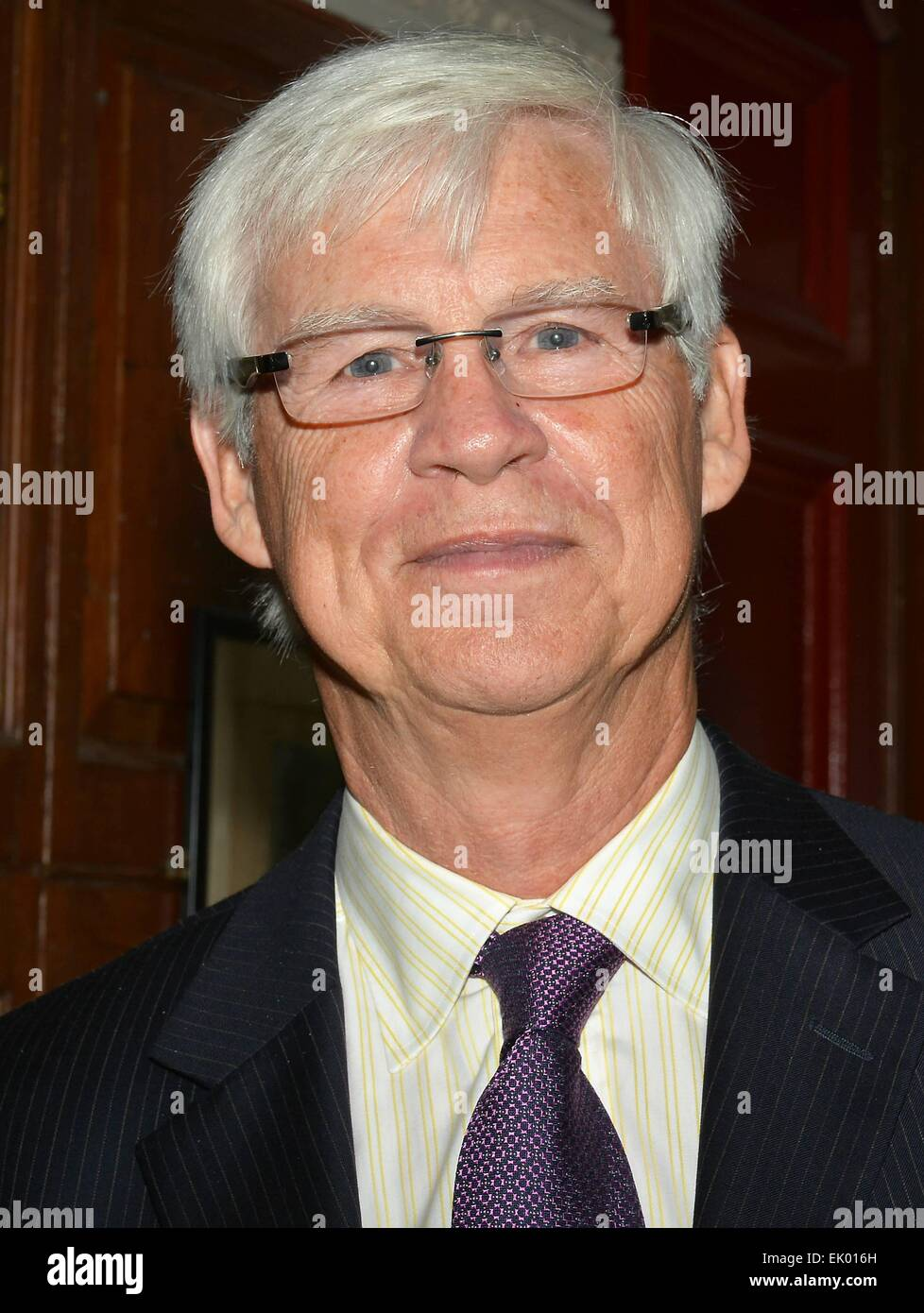 Nobel Prize winner Robert Engle received the Gold Medal of Honorary Patronage of the Trinity College Philosophical - Stock Image