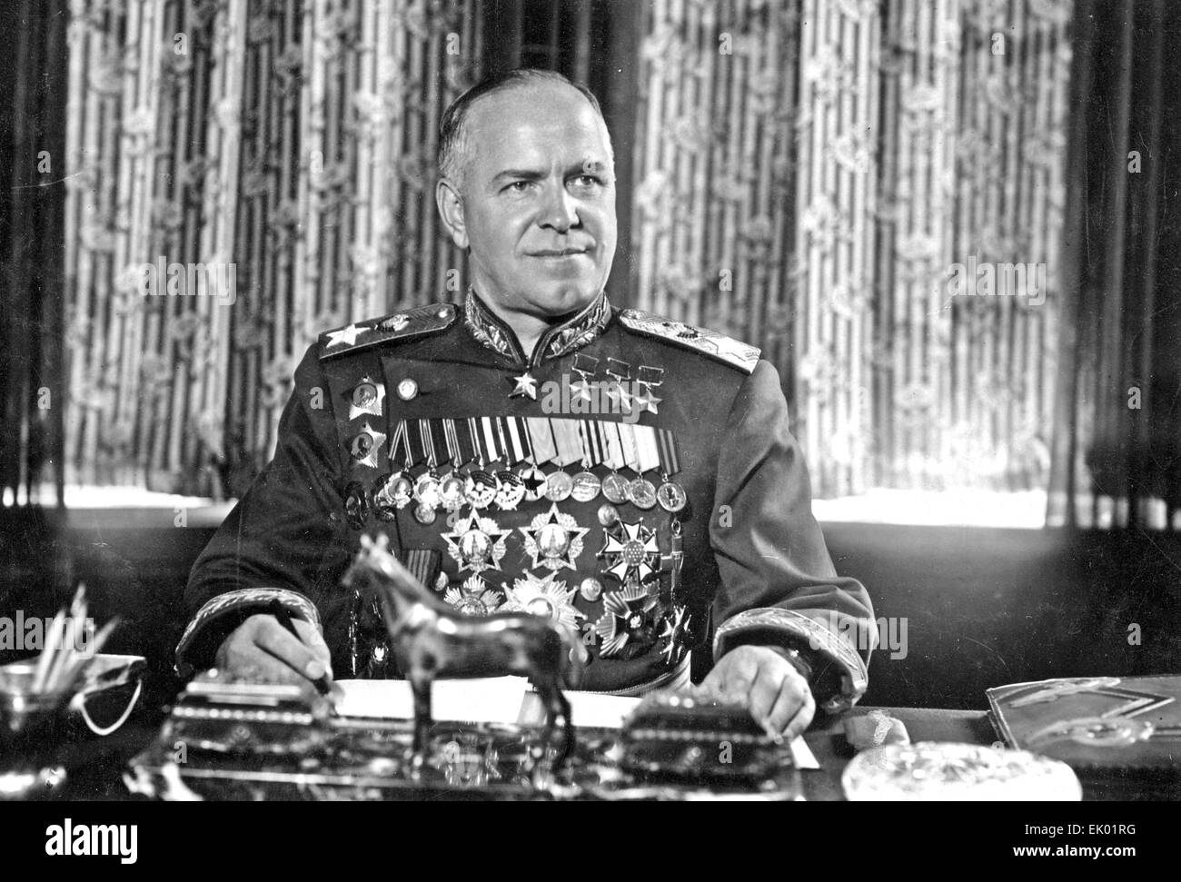 GEORGY ZHUKOV ((1896-1974) Soviet General about 1946 Stock Photo