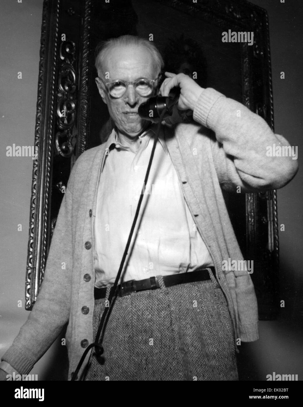 SINCLAIR LEWIS (1885-1951) American novelist and playwright in Venice in 1950. Photo Interphoto - Stock Image