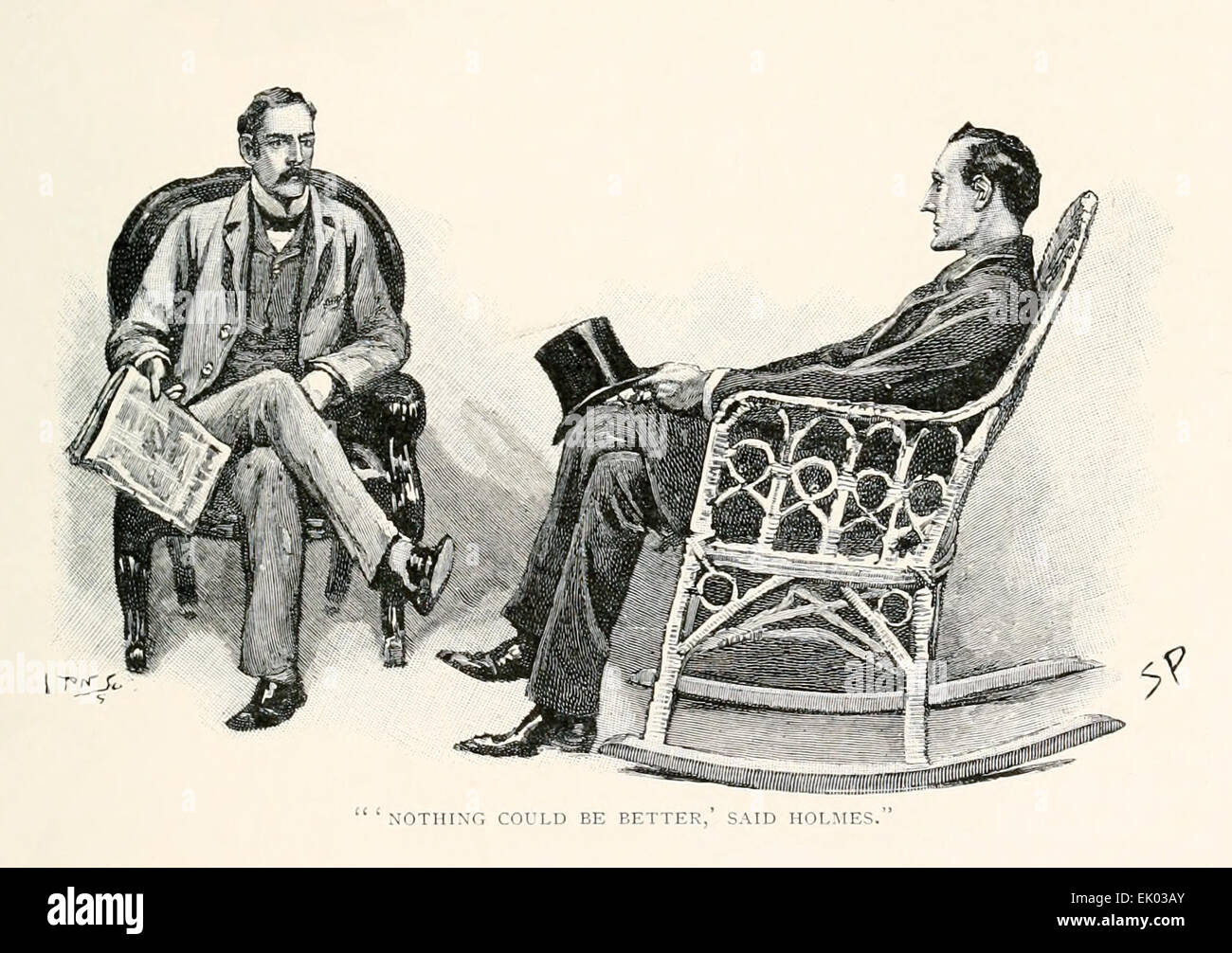 'Nothing could be better', said Holmes - from 'The Stockbroker's Clerk' by Arthur Conan Doyle - Stock Image
