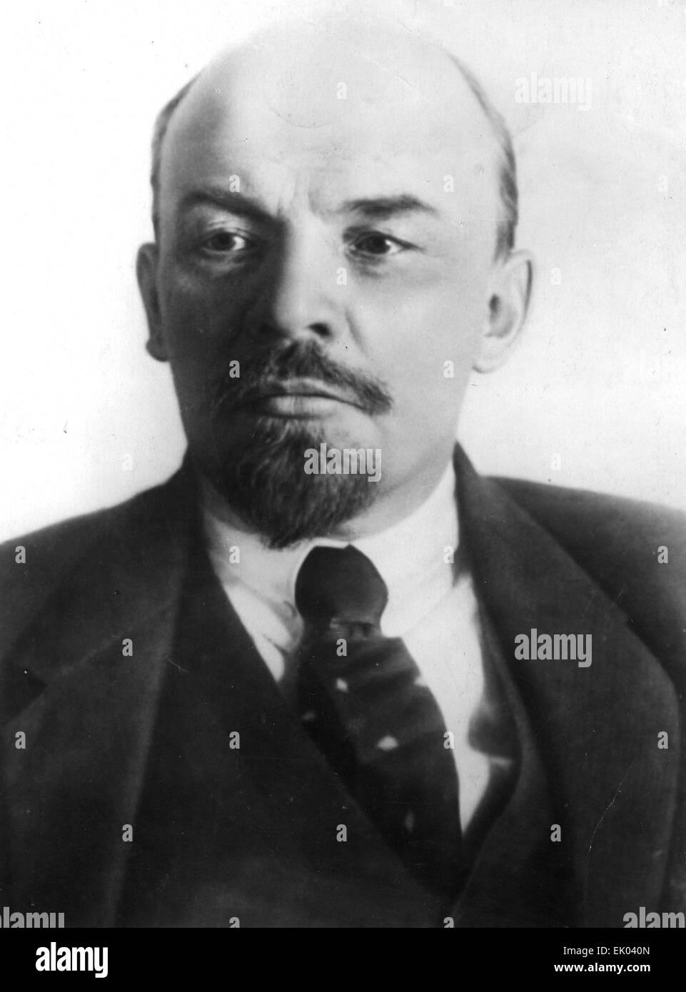VLADIMIR LENIN (1870-1924) Russian Marxist revolutionary about 1918 - Stock Image