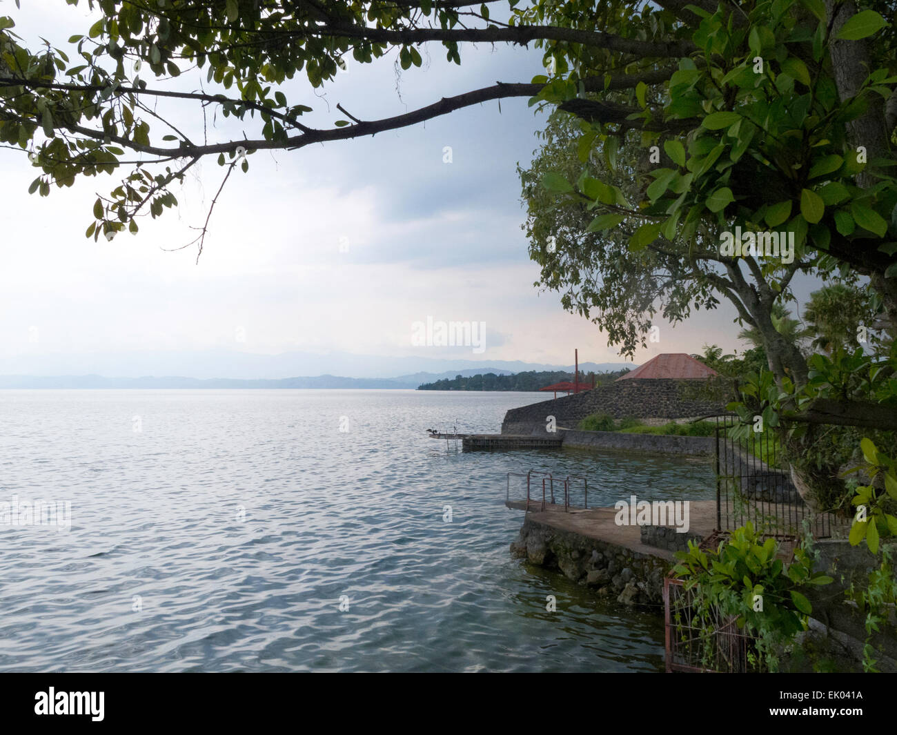 The shores of Lake Kivu at Goma, Democratic Republic of Congo, Africa - Stock Image