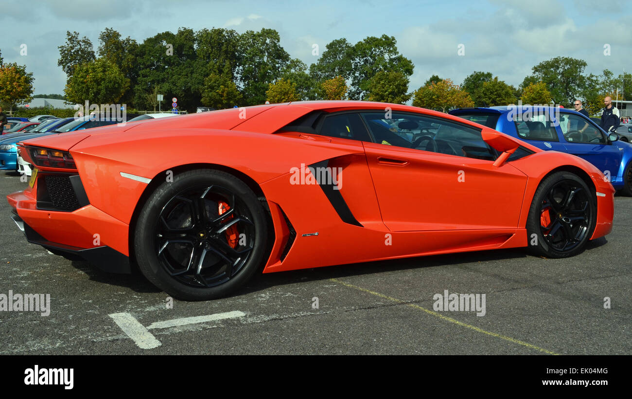 Lamborghini Aventador Orange >> Orange Lamborghini Aventador Coupe Stock Photo 80523648 Alamy