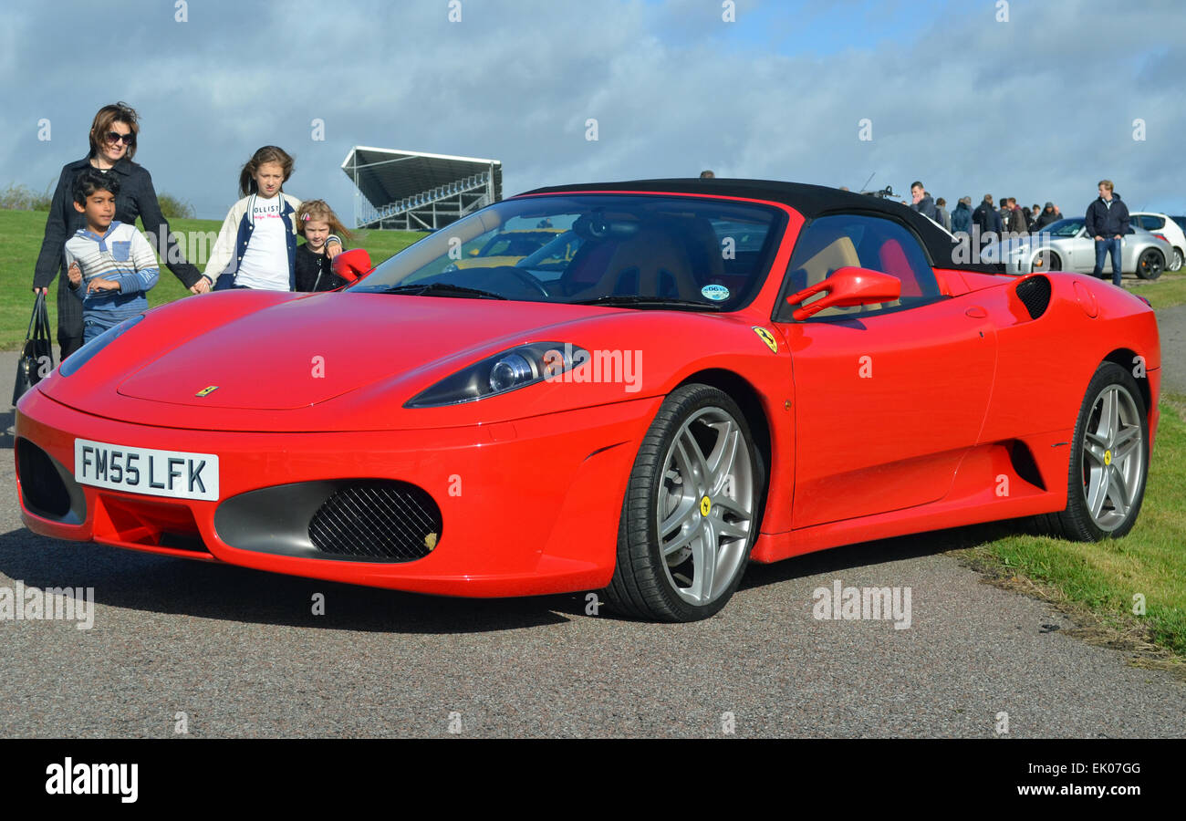 Roofless Car Stock Photos Images Alamy F430 Can Bus Diagram Red Ferrari 430 Cabriolet Image
