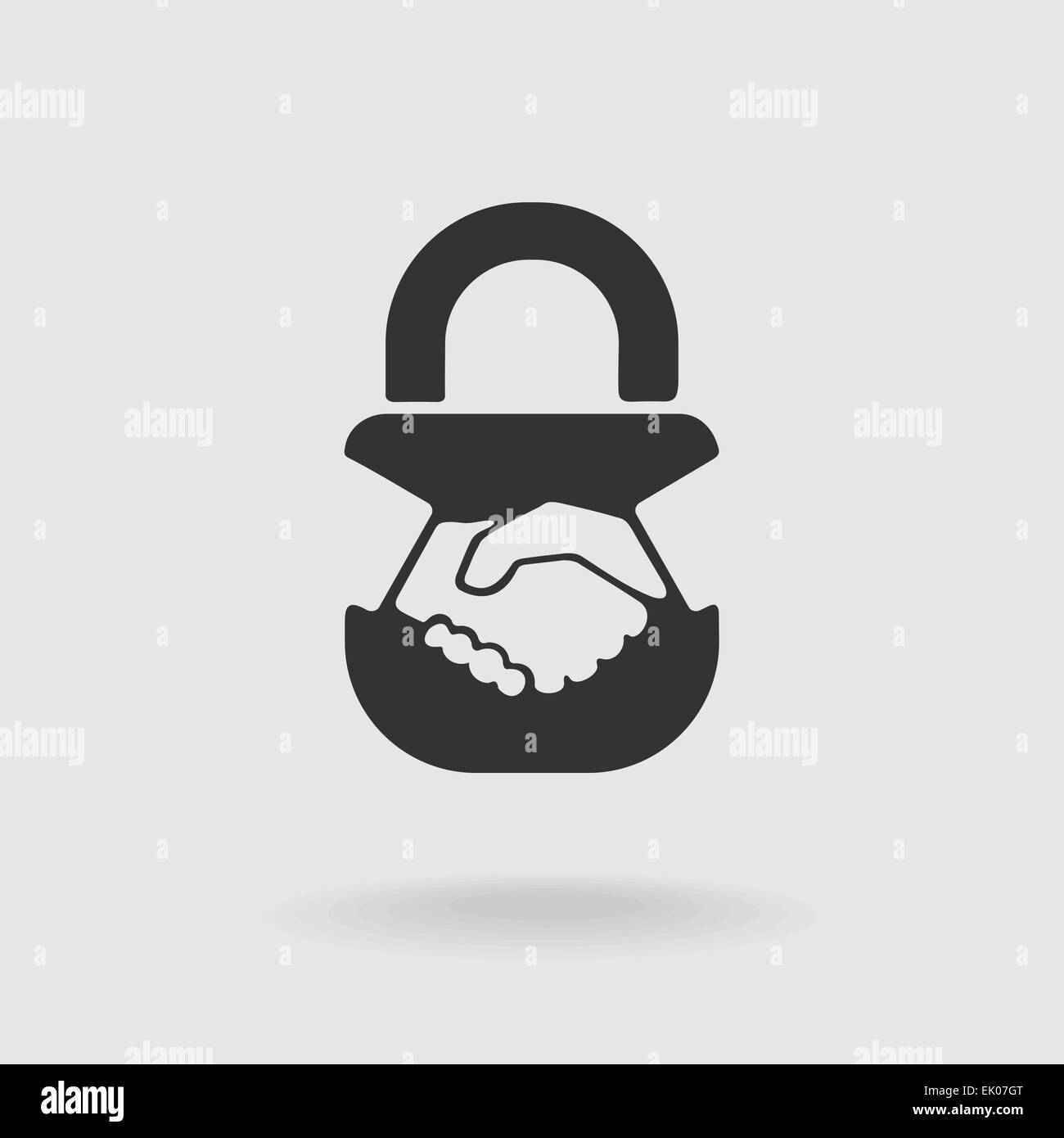 Symbol Handshake lock - Stock Image