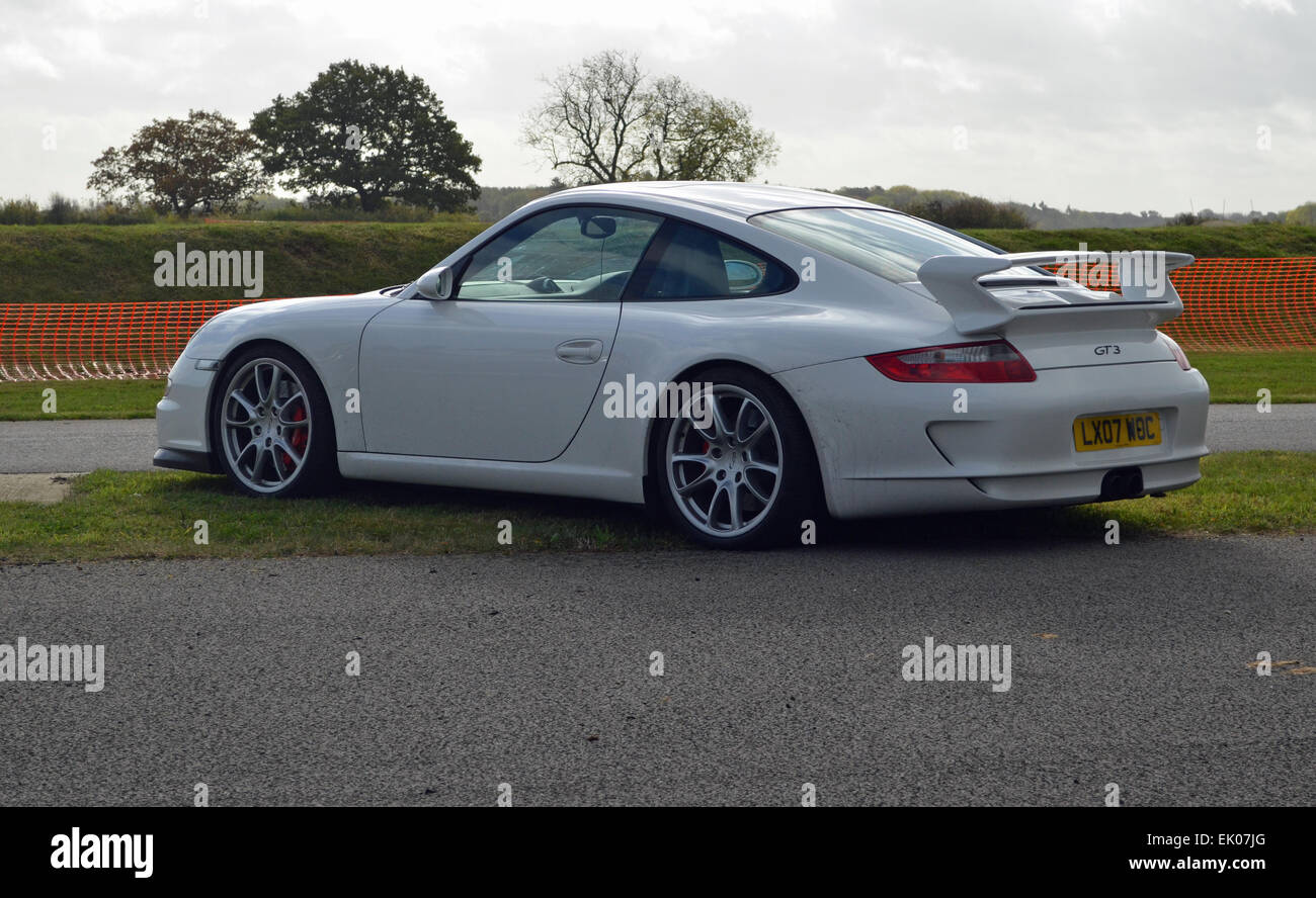 White Porsche 997 Gt3 Stock Photo Alamy