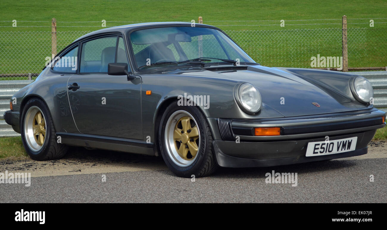 metallic grey porsche 911 with gold fuchs wheels stock. Black Bedroom Furniture Sets. Home Design Ideas