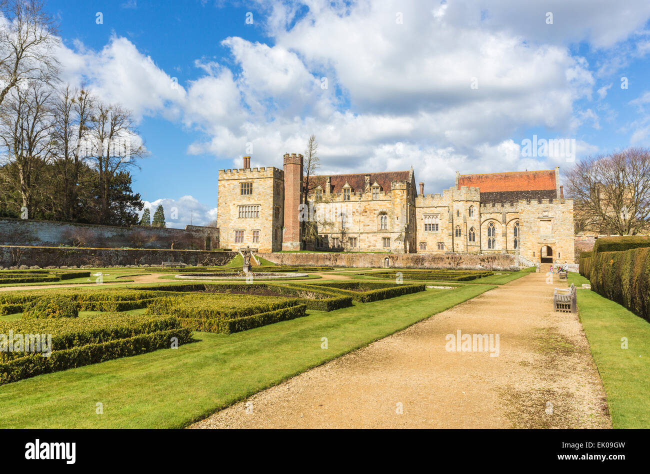 Penshurst Place, a 14th century country house, the seat of the Sidney family, near Tonbridge, Kent, UK - Stock Image