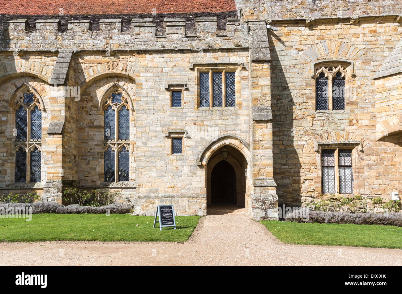 Entrance doorway to Penshurst Place, a 14th century country house, the seat of the Sidney family, near Tonbridge, Stock Photo
