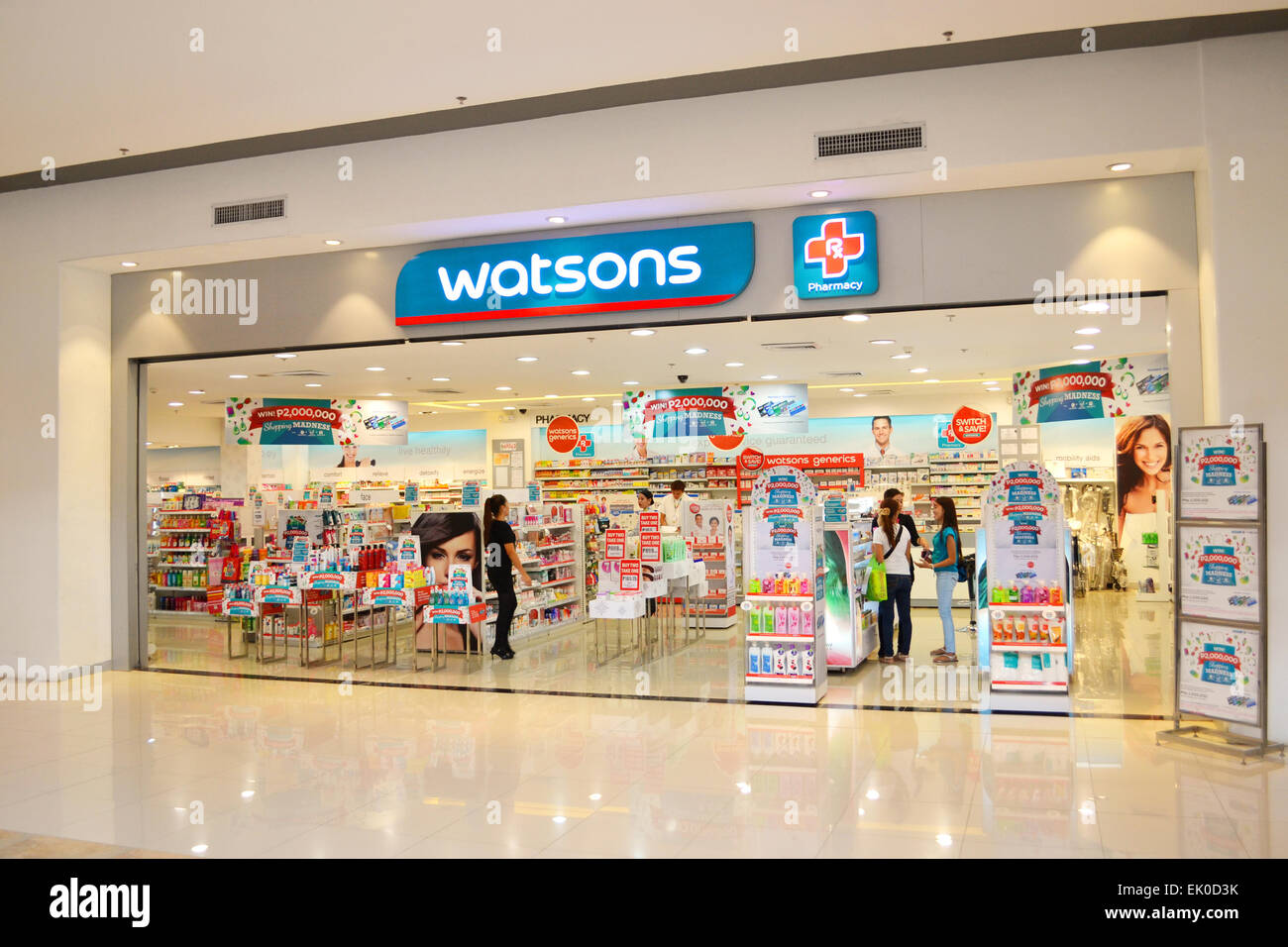 Watsons personal care store is one of the most famous health & beauty care stores in the far east since 1828. - Stock Image