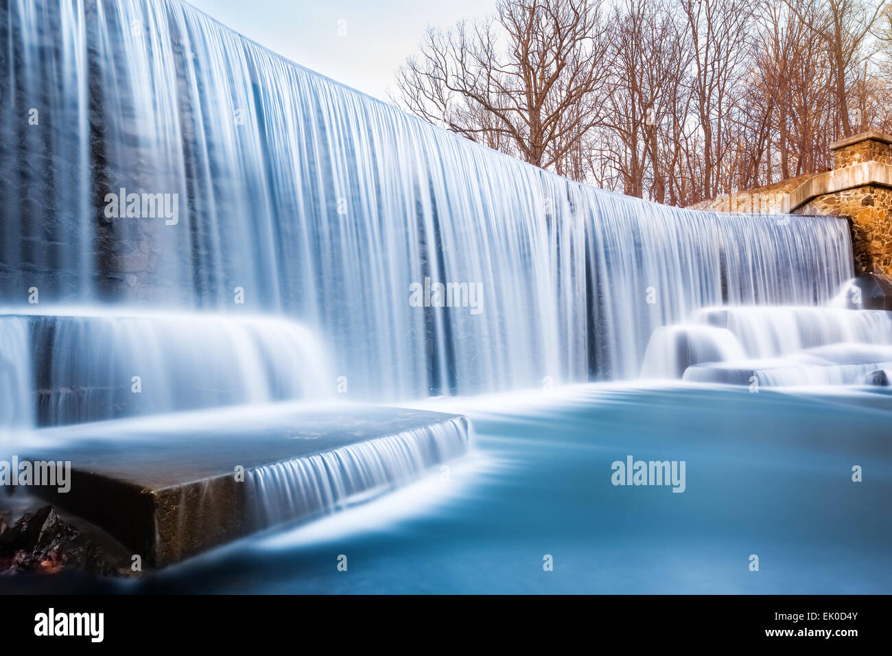 Seeley's Pond waterfall, in New Jersey. - Stock Image