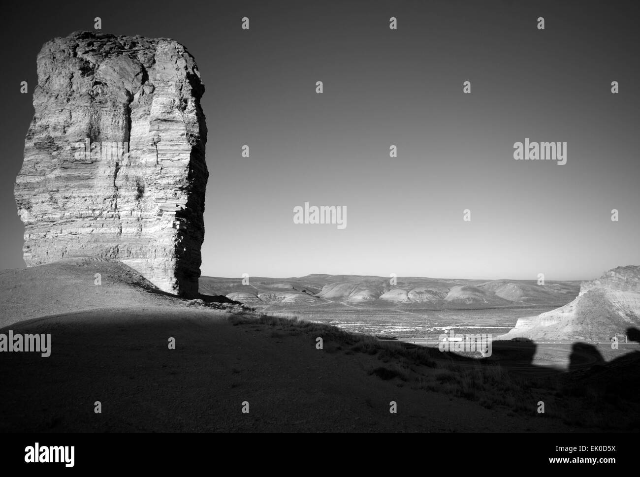Green River Teapot Rock Black and White - Stock Image