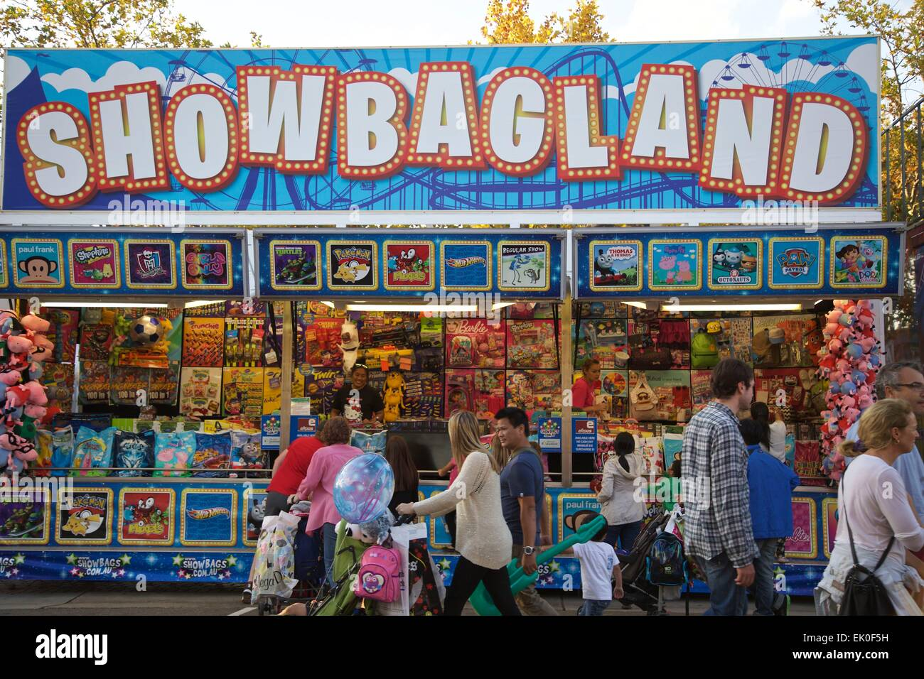 Show Bag Stalls At The Sydney Royal Easter Show Credit Richard Stock Photo 80531853 Alamy