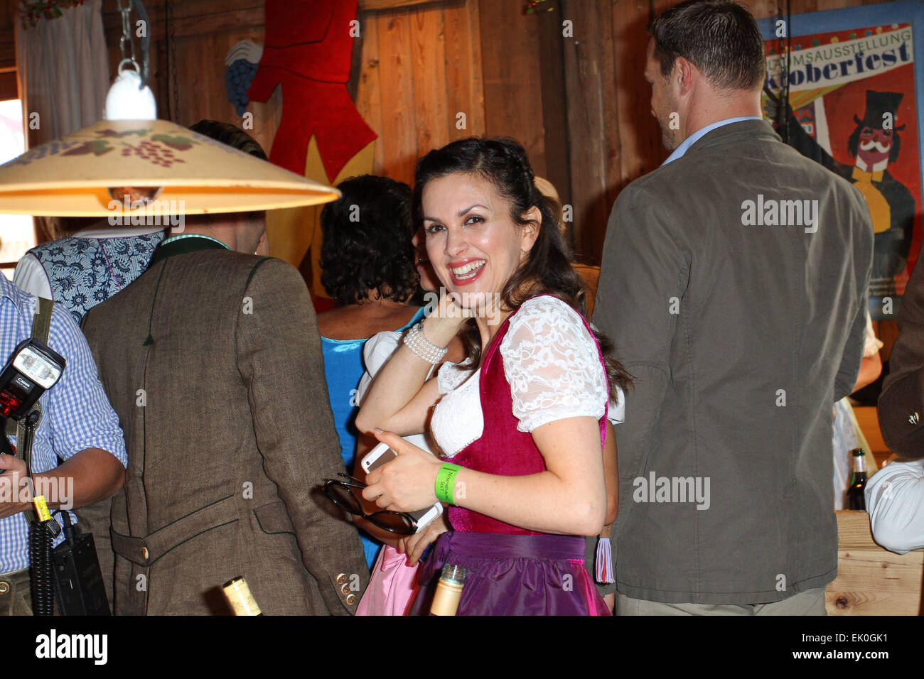 Sauerland boxing promoter's party at Weinzelt tent during the 2014 Oktoberfest (Wiesn) Featuring: Viktoria Lauterbach - Stock Image