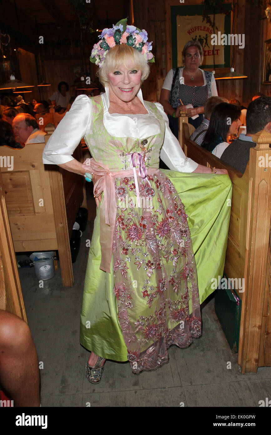 Sauerland boxing promoter's party at Weinzelt tent during the 2014 Oktoberfest (Wiesn) Featuring: Elke Sommer - Stock Image