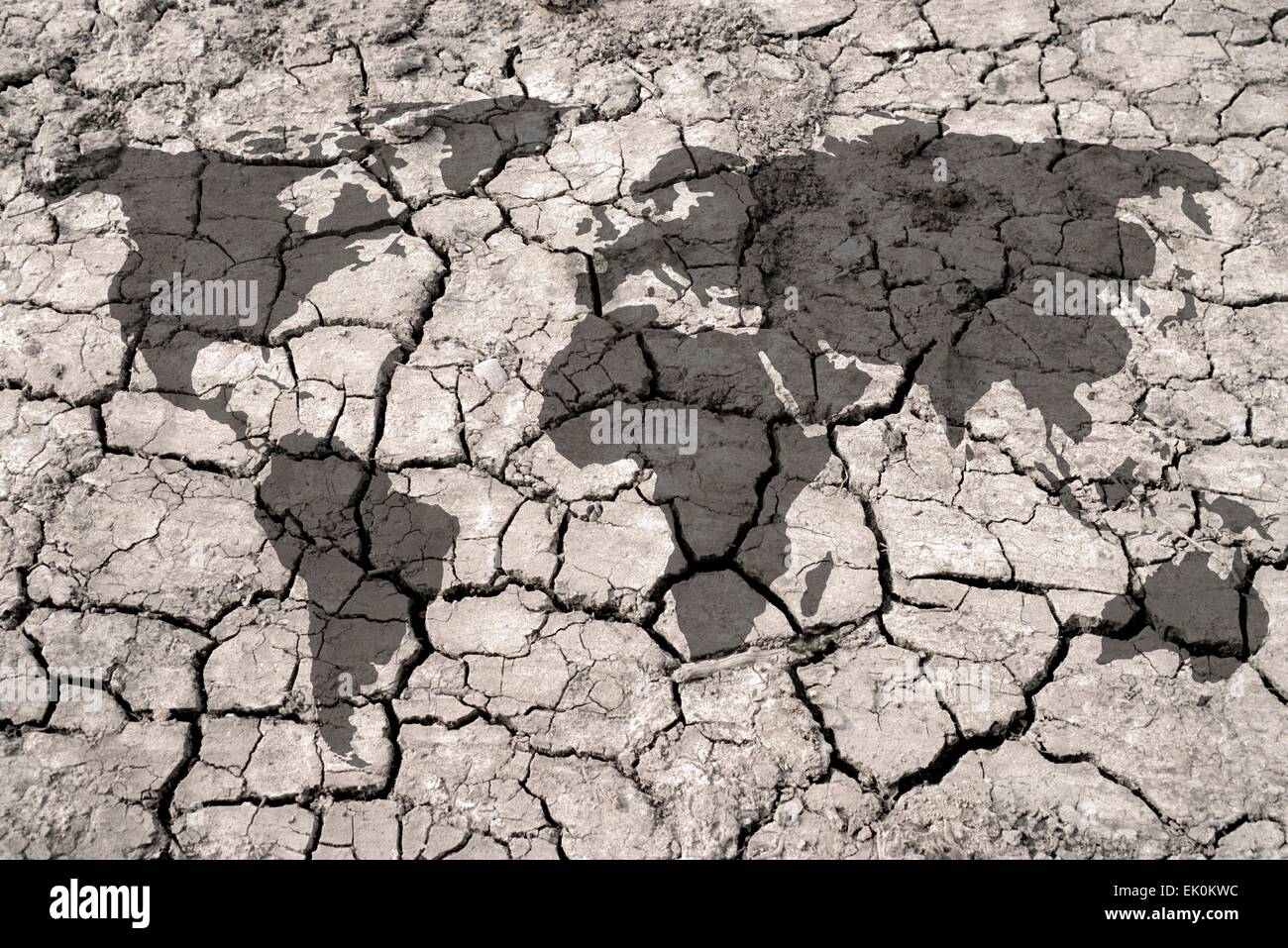 artwork, digitally generated, illustration, geography, geographical, crack, cracks, cracked, earth, soil, dry, drought, - Stock Image
