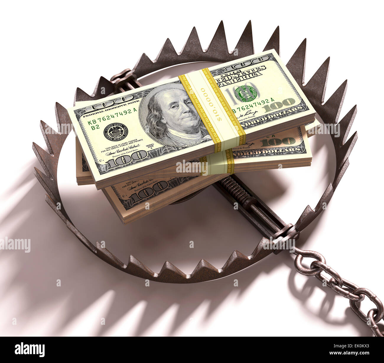 artwork, digitally generated, illustration, nobody, no one, no-one, money, finance, finances, financial, 100 dollar - Stock Image