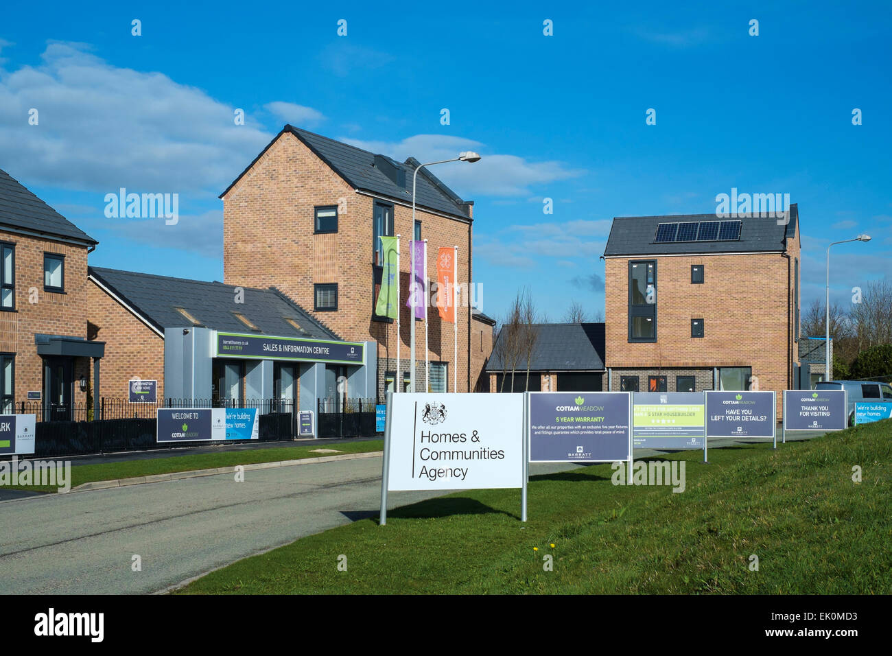 This new Barratt development in Preston, Lancashire includes 104 new home of which 21 are classed as 'affordable - Stock Image