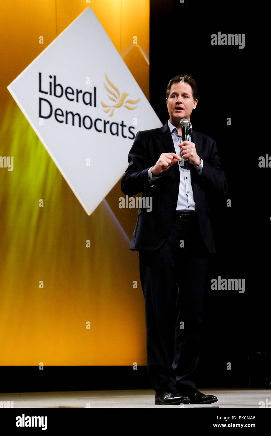 Liberal Democrats Spring Conference 2015 on 14/03/2015 at BT Convention Centre, Liverpool. xxxx  xxxxxx . Picture - Stock Image