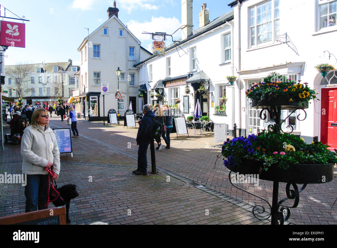 951c31b9cb0 Sidmouth town centre and shops Stock Photo  80537661 - Alamy