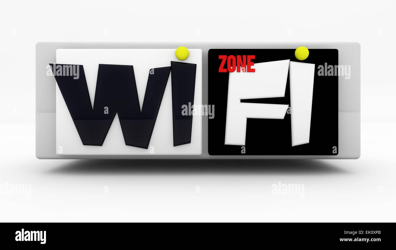 WiFi zone sign - Stock Image