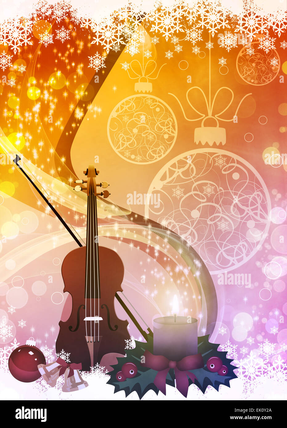 Christmas Music Background.Advent Or Christmas Music Concenrt Advert Poster Or Flyer