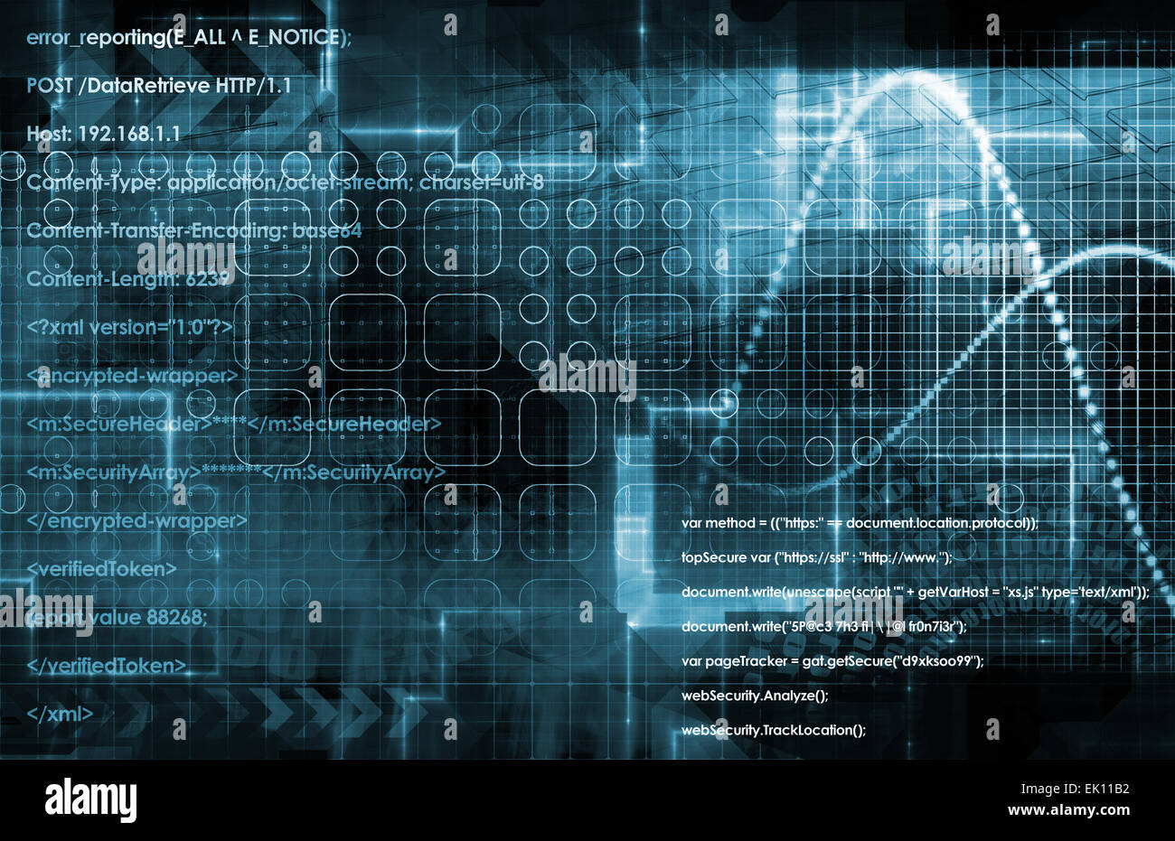 Internet Concept Background with Digital Concept Abstract - Stock Image