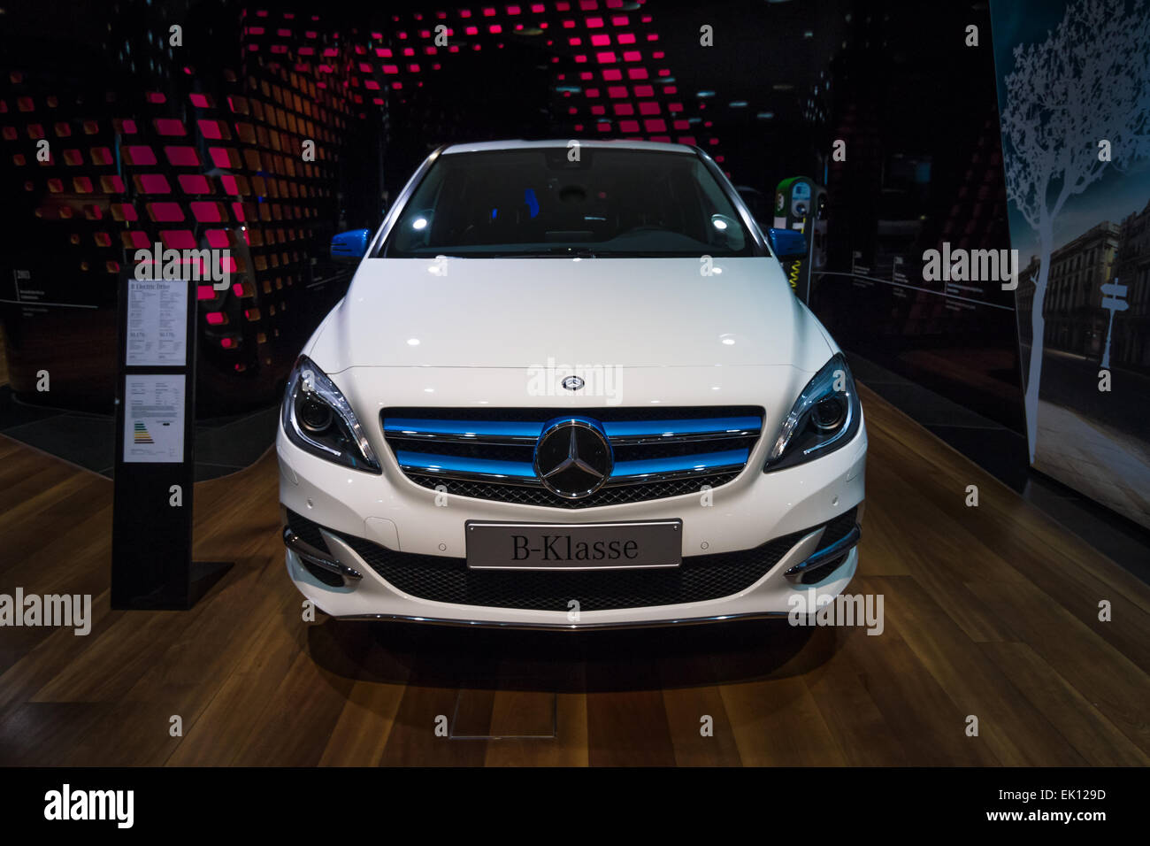 A compact luxury car Mercedes-Benz B-Class Electric Drive. The first production car with an electric engine. Produced - Stock Image
