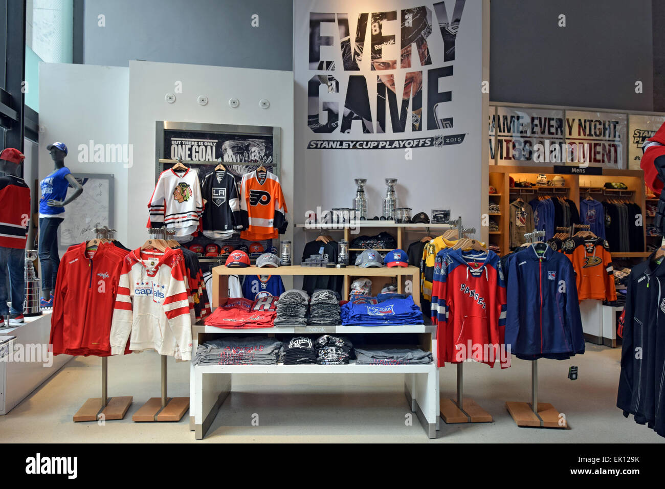 355c7a8aca2 NHL hockey clothes   memorabilia for sale at the NHL store on Avenue of the  Americas