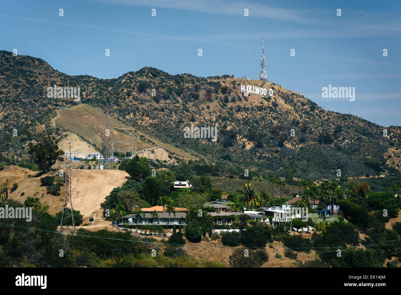 view of hills and the hollywood sign from mulholland drive. Black Bedroom Furniture Sets. Home Design Ideas