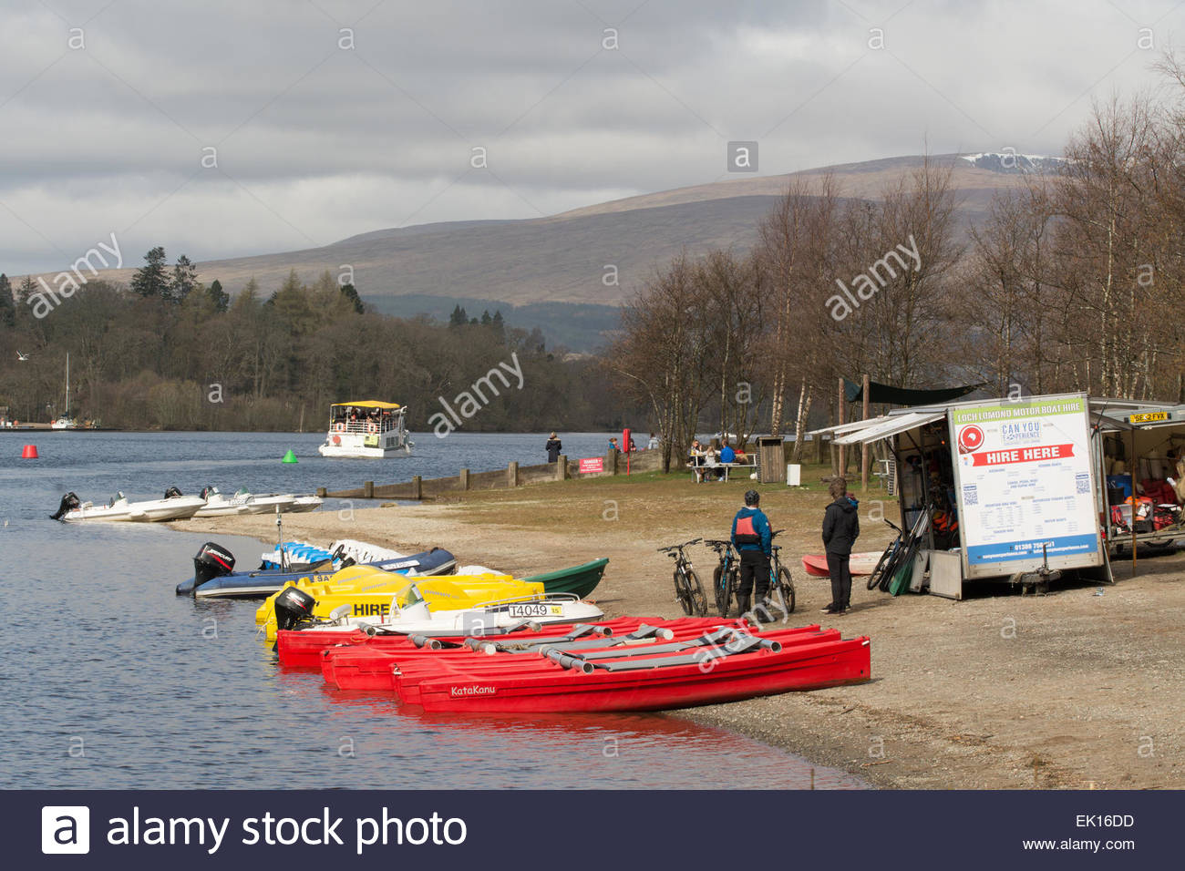 sport and leisure activities available at Loch Lomond Shores, Balloch, Scotland, UK - Stock Image