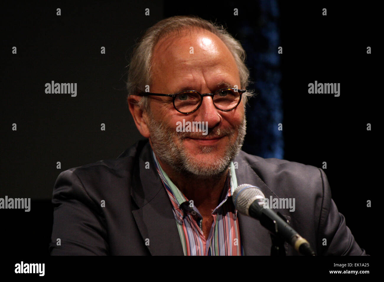 SEPTEMBER 14, 2013 - BERLIN: festival director Ulrich Schreiber at a press conference at the International Literature - Stock Image