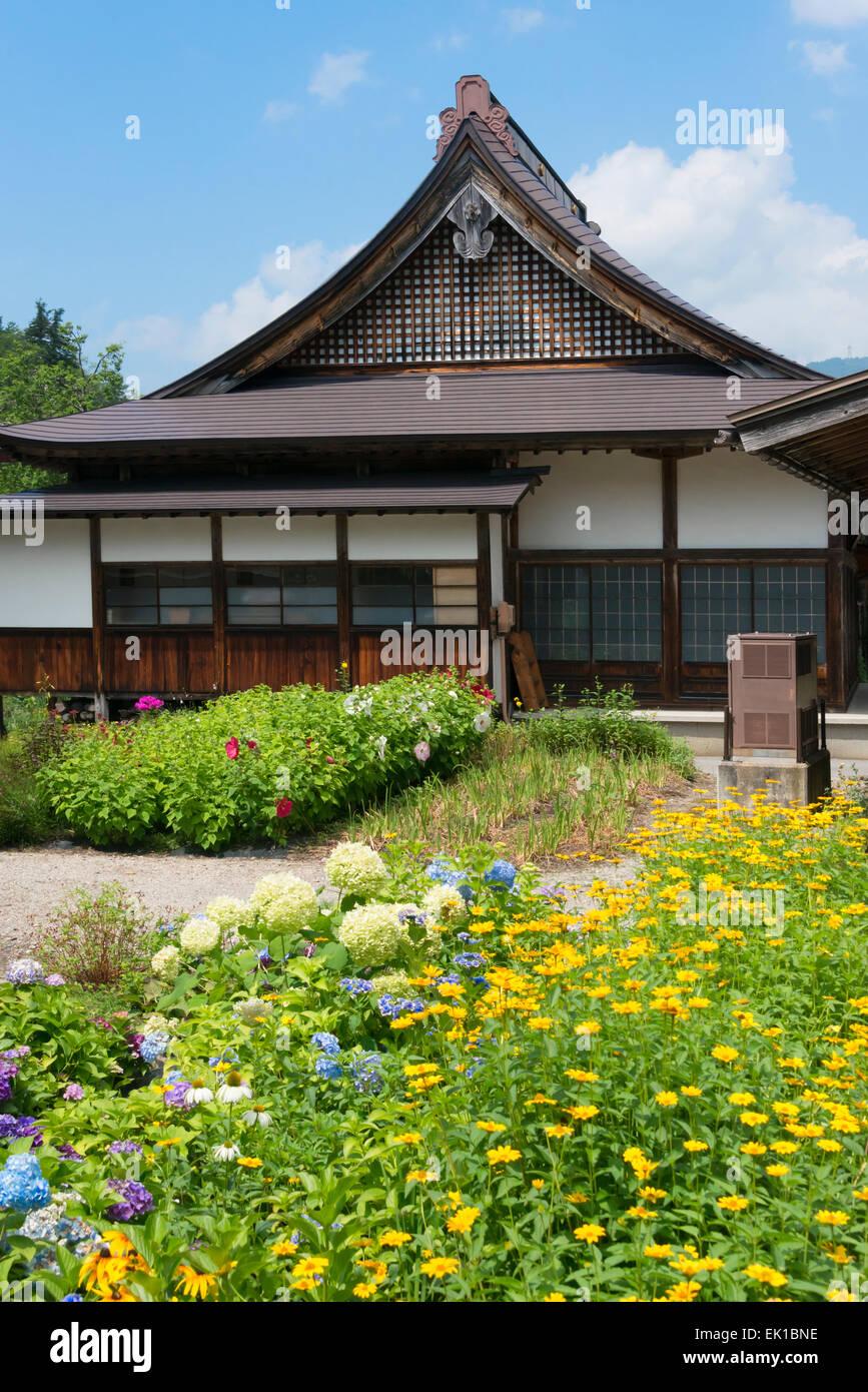 Traditional house, Shirakawa-go, Gifu Prefecture, Japan - Stock Image