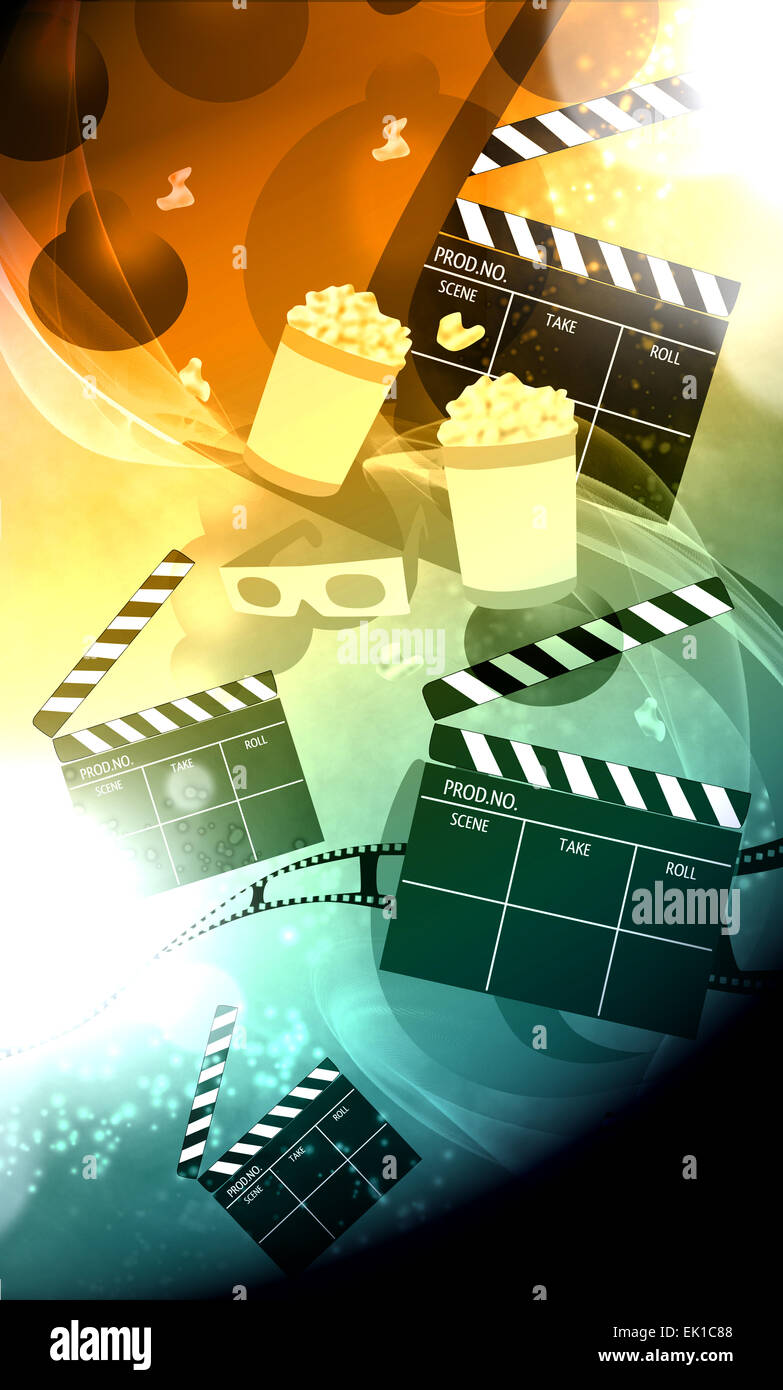 Cinema Movie Cinematography Advert Poster Or Flyer Background With