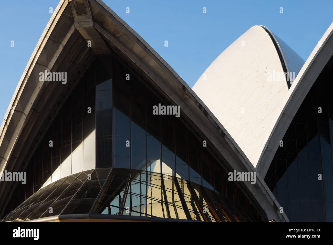Detail photos of the Sydney Opera House, by architect Jørn Utzon. - Stock Image