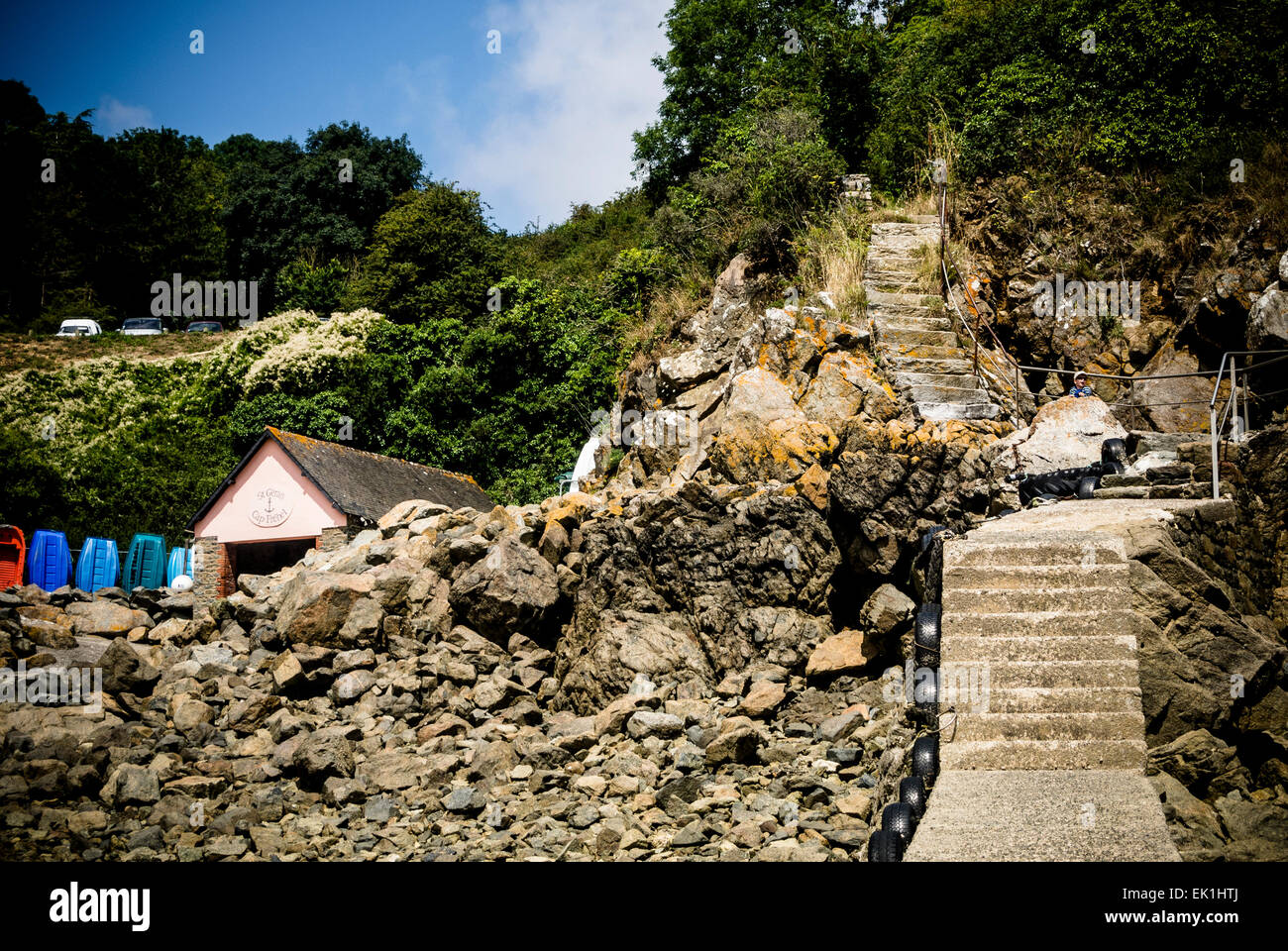 stairways on a slope - Stock Image
