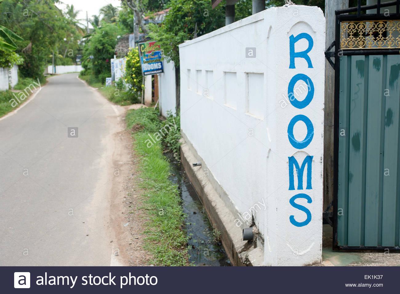 Mirissa Sri Lanka Rooms available - Stock Image