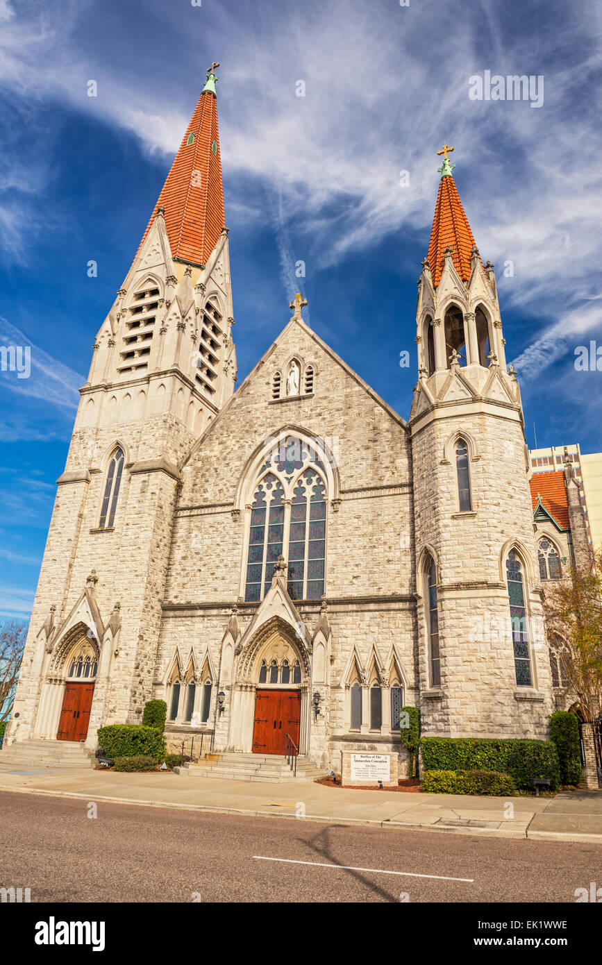 Immaculate Conception Catholic Church In Downtown Jacksonville Stock