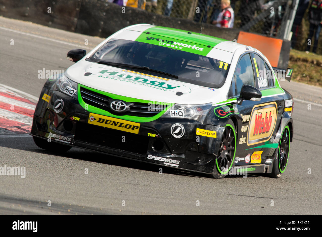 Fawkham, UK. 05th Apr, 2015. Dunlop MSA British Touring Car Championship at Brands Hatch on April 5, 2015 in FAWKHAM, - Stock Image