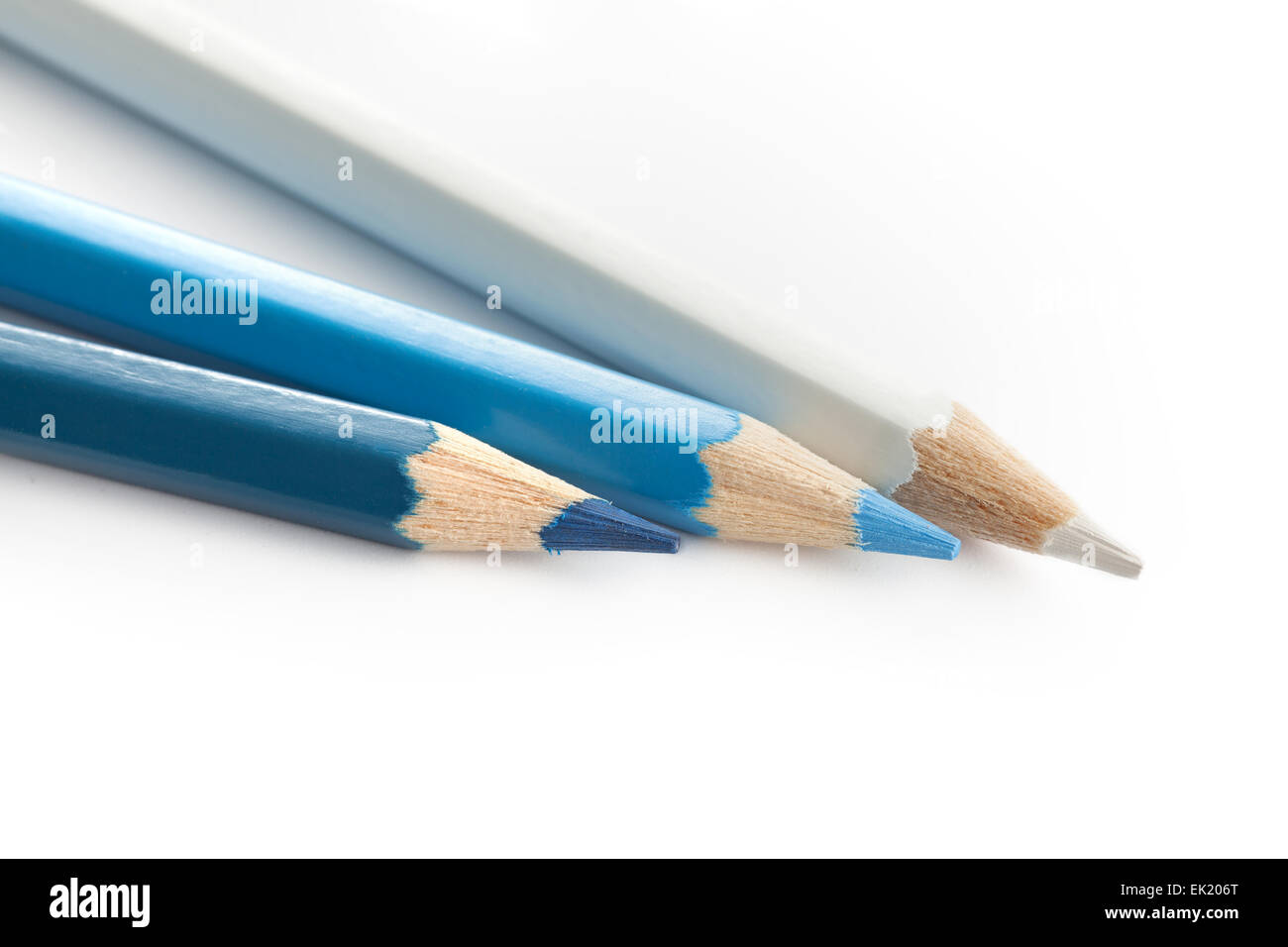 pencil color navy blue white - Stock Image