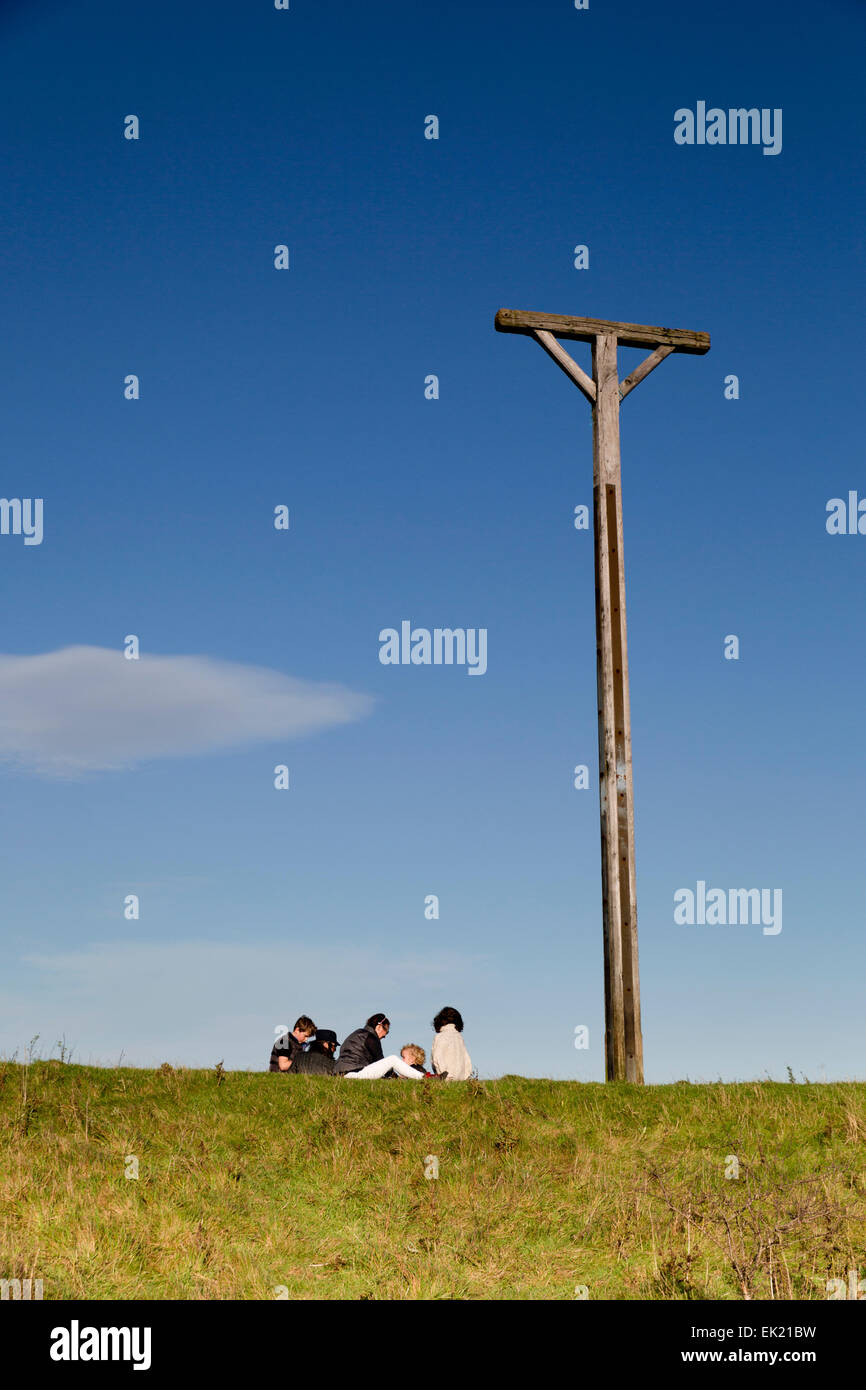 Combe Gibbet; Gallows Downs; Berkshire; UK - Stock Image