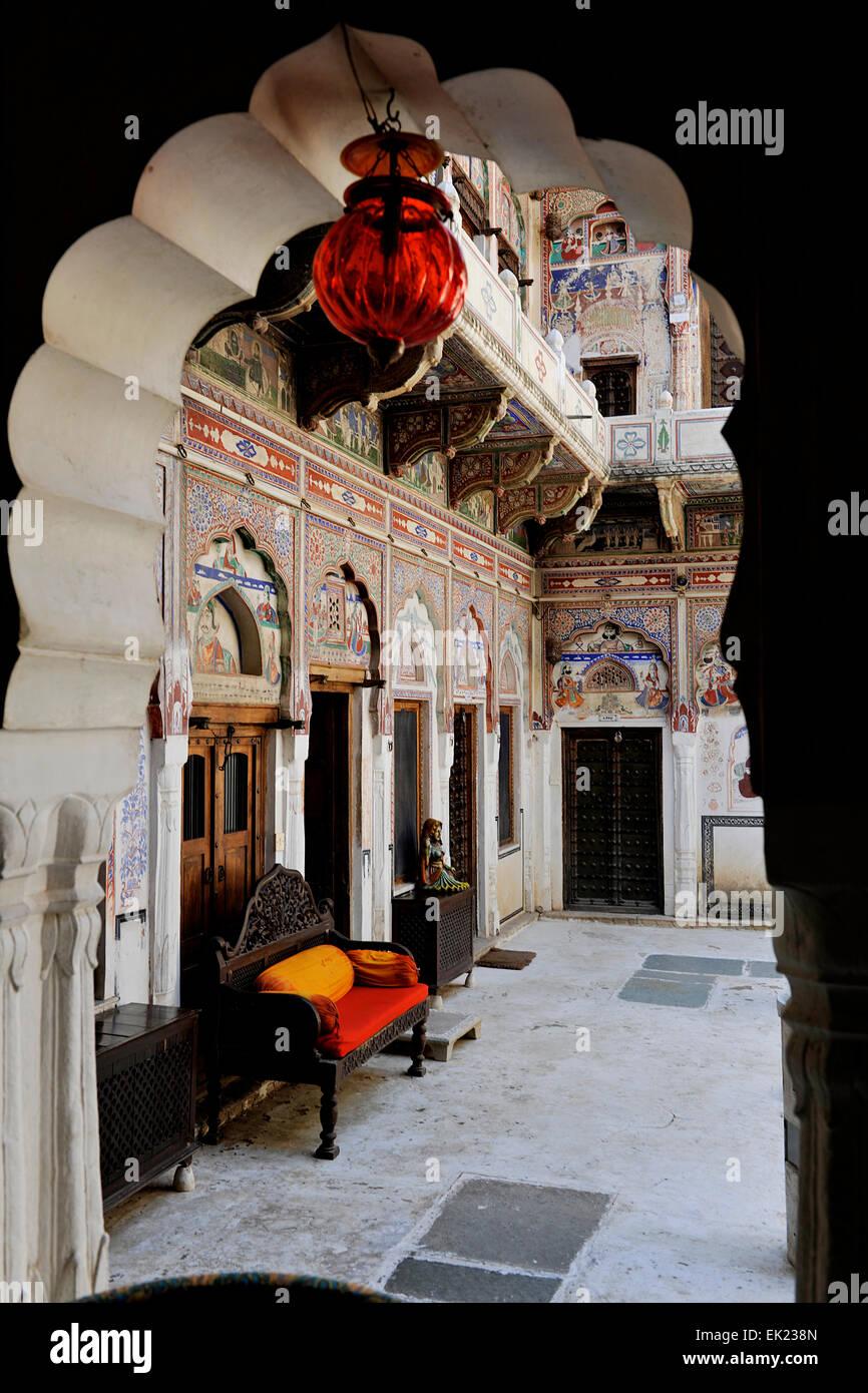 Manada Haveli Shekhawati Rajasthan India - Stock Image