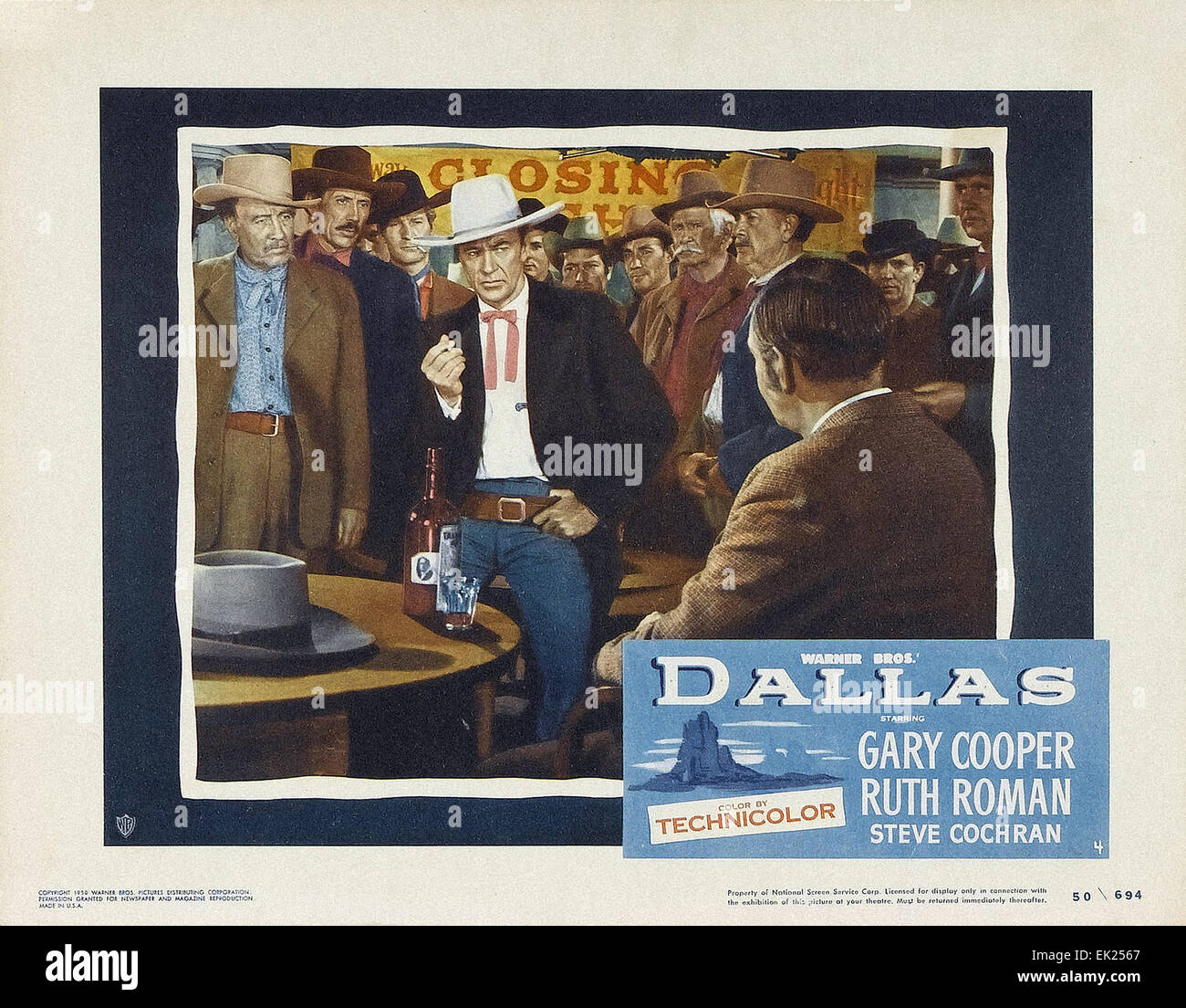 Dallas - 1950  - Movie Poster - Stock Image