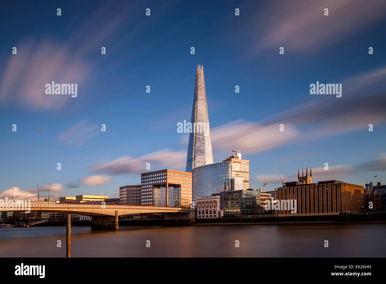 The Shard and London Bridge, London, England - Stock Image