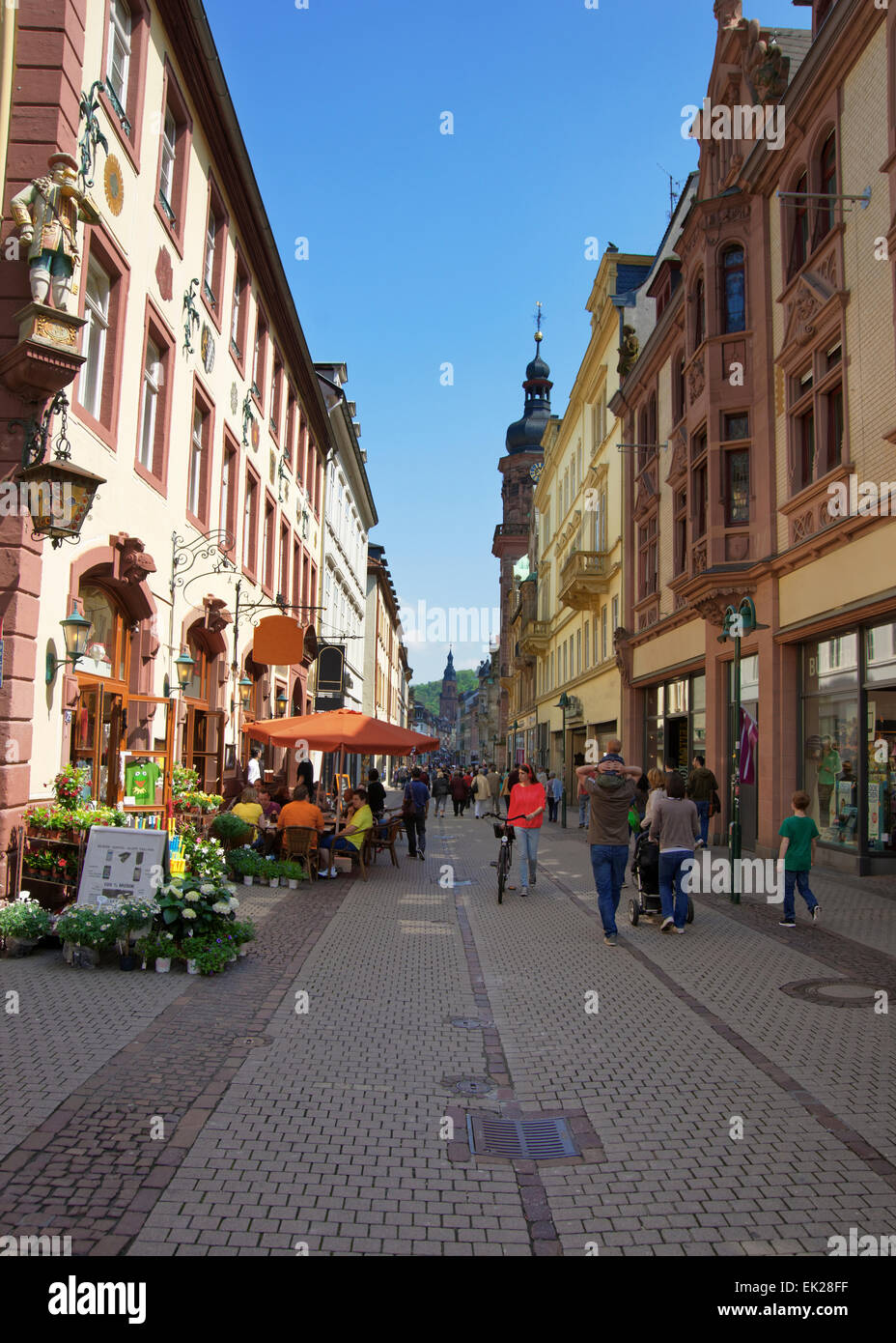 heidelberg germany may 5 2013 people walking on central stock photo 80570547 alamy. Black Bedroom Furniture Sets. Home Design Ideas
