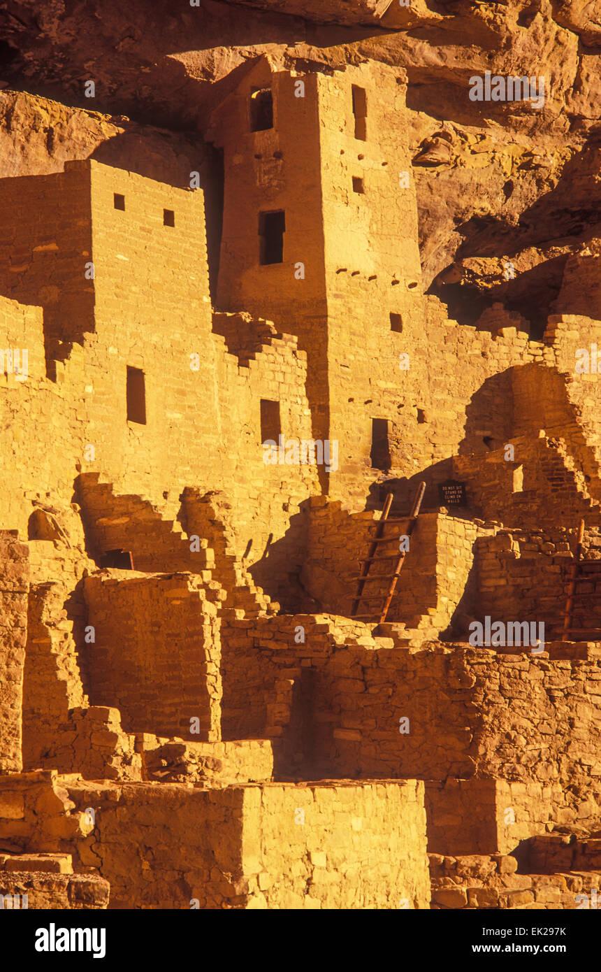 Cliff Palace, Anasazi Indian, Mesa Verde National Park, Colorado - Stock Image
