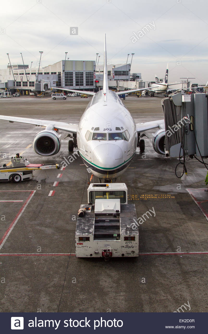Airplanes parked at airport - Stock Image